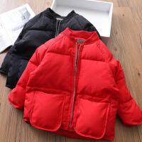 女童短款小棉袄 宝宝韩版羽绒棉棉衣儿童加厚外套装