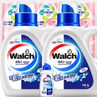 【2件3折到手价:29.9】威露士有氧洗洗衣液1kgx2+手洗90g+卫新日版柔顺剂50gx3