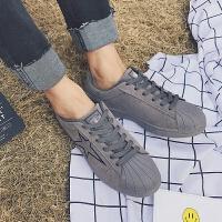 DAZED CONFUSED 潮牌贝壳头板鞋韩版夏季男士低帮鞋时尚潮流男鞋复古青年休闲鞋子