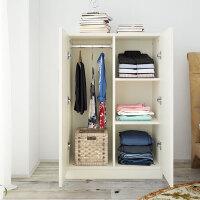 居家组装矮小型衣柜实木质简约现代租房的经济型简易板式家具 2门