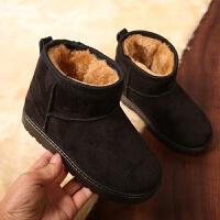儿童雪地靴冬季鞋男女童棉鞋宝宝短筒靴软底防滑加绒保暖防水童鞋