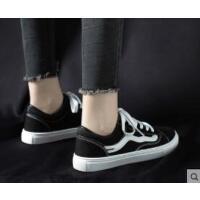 女鞋帆布鞋新款鞋子女潮鞋韩版百搭学生平底小黑布鞋