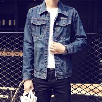 牛仔夹克男大码休闲夹克上衣韩版修身外套长袖牛仔夹克男