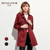诗篇2017秋季新品 商务时尚收腰显瘦减龄风衣外套6C57307150