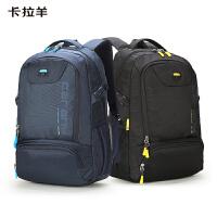 【1件5折】卡拉羊双肩背包17.3寸电脑包中学生大学生书包大容量男女休闲防水透气旅行包CX5566