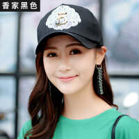 帽子女韩版夏棒球帽潮流街头百搭潮人白色鸭舌帽带环帽子女生防晒