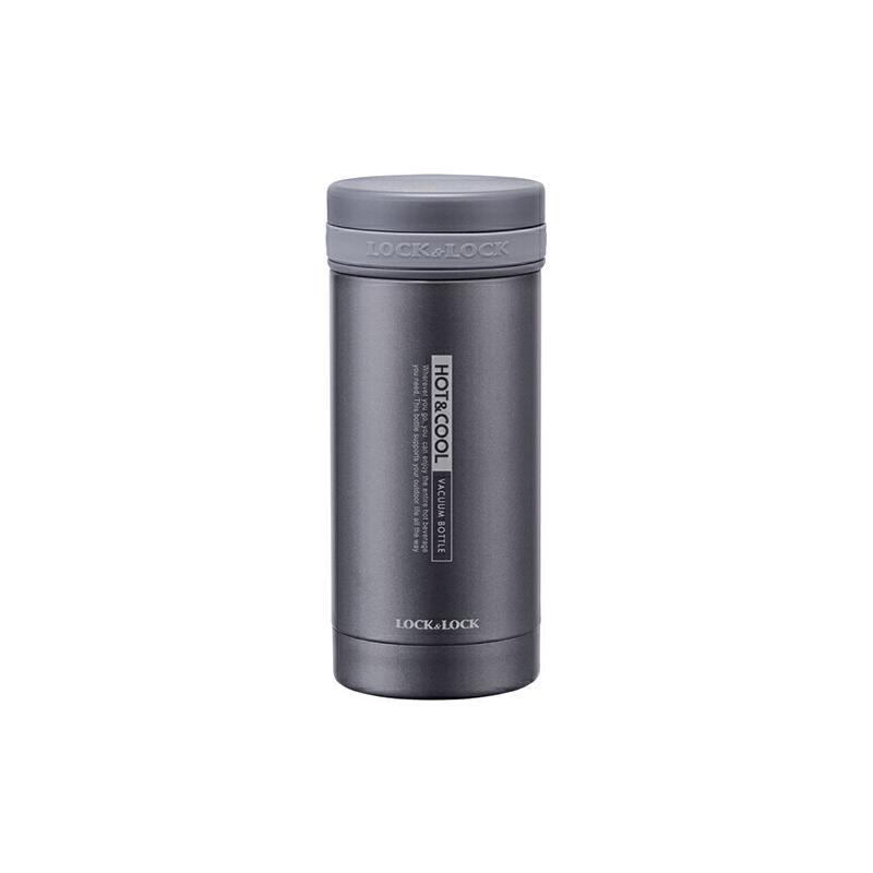 LOCK&LOCK乐扣 不锈钢纤巧茶杯200ml黑色 LHC551