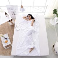 隔脏睡袋五星级酒店旅行床单被套纯棉高密度隔脏睡袋白色室内双人睡袋 白色 1.8*2..1米