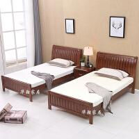 单人床1.2米实木床1.5米小户型1米省空间的床1.35米床经济型 2张+2张10公分垫+1个头柜