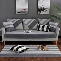 沙发垫子家用棉麻四季布艺客厅通用防滑简约现代北欧风格沙发套罩定制