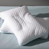 商场同款日系透气PE软管纤维棉贡缎枕芯单人 颈椎枕头一对拍2 科学软管枕