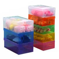 星空夏日 加厚女款透明鞋盒 塑料鞋盒 收纳盒10只装 颜色*JJN26-12