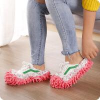 普��(PU RUN) 雪尼���腥瞬恋匦�家�涨��鞋套可拆洗地板拖鞋家用拖把�^布鞋套�色�S�C �色�S�C