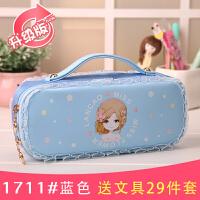 简约韩国笔袋女大容量公主文具盒小学生初中生文具袋女生铅笔盒