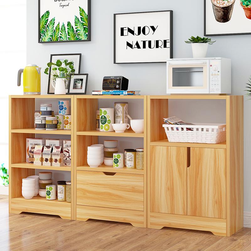亿家达餐边柜厨房碗柜简易家用置物架储物柜简易餐边柜多功能橱柜现代简约 多功能收纳