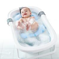 Hape宝宝沐浴安全垫0-1岁洗澡网面气垫可坐可躺兼容各种浴盆架新生儿护脊防滑垫E8445