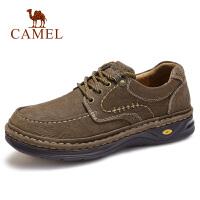 camel骆驼男鞋 秋季新品休闲牛皮鞋真皮日常户外旅游防滑皮鞋子