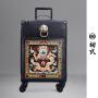 【支持礼品卡支付】初�q潮牌中国风20寸龙刺绣登机箱拉链拉杆万向轮旅行行李箱