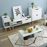 亿家达北欧电视柜简约现代迷你组合套装茶几卧室电视机柜小户型客厅地柜