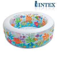 游泳池INTEX充气水池加厚海洋球池宝宝儿童家用环保透明戏水池
