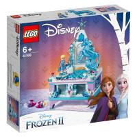 LEGO�犯叻e木 迪士尼公主系列 41168 艾莎的��意珠��盒 玩具�Y物
