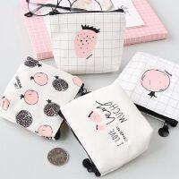 零钱包迷你女长短款钱包钥匙卡包可爱帆布艺学生韩版硬币包包男女 送小猪佩奇(纹身贴)