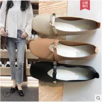 韩版百搭平底奶奶鞋浅口单鞋女学生软妹蝴蝶结平跟豆豆鞋