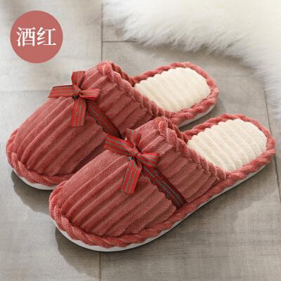秋冬季棉拖鞋女厚底冬季可爱家用家居家情侣室内保暖棉拖男拖