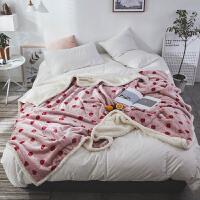 双层毛毯被子冬季羊羔绒加厚保暖珊瑚绒毯子法兰绒女垫床单人冬用