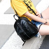 双肩包女皮2018款韩版百搭两用软皮羊皮双肩背包书包旅行包大