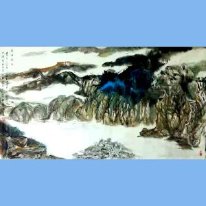中国美术家协会理事,国家一级美术师,美国好莱坞电影公司总裁,中美慈善基金会会长,人民艺术家协会终身艺术顾问董俊英(春江图)