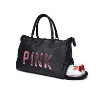 新款韩版短途旅行包女轻便简约大容量超大行李包男手提旅行袋健身包潮 升级版 独立鞋位