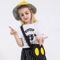 【2件5.5折到手价:40】小猪班纳童装儿童短袖t恤2020夏季新款女童针织衫女孩圆领体恤