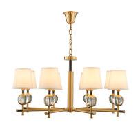 照明美式客厅吊灯全铜简约北欧餐厅书房新中式吊灯卧室创意艺术纯铜灯