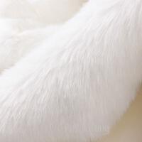 仿真兔毛布料仿兔毛皮草布料 毛绒柜台布 马甲服装领毛绒布料 柜台背景布