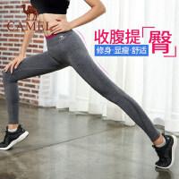 骆驼瑜伽裤女弹力紧身裤提臀显瘦高腰健身裤长裤跑步运动裤秋冬季