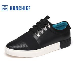 HONCHIEF 红蜻蜓旗下 春季新款时尚板鞋撞色男士休闲鞋韩版男鞋