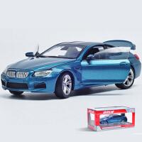 跑车合金车模 1:24轿车男孩收藏*仿真汽车模型 礼盒装 蓝色带底座