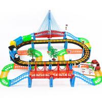 电动拖马斯小火车套装轨道车玩具儿童赛车汽车男孩3-4-5-6岁