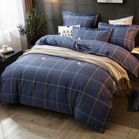 棉四件套�棉磨毛床上用品1.5m�W生�坞p人被套床��4件套