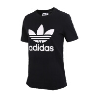 Adidas阿迪达斯 女装 2018新款三叶草运动休闲透气短袖T恤 CV9888