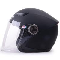 野马619半覆式男女士摩托车头盔 冬季电动车安全帽 四季通用半盔
