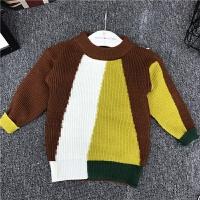韩版童装2017秋新品男童粗毛线衫儿童时尚百搭毛衣宝宝保暖针织