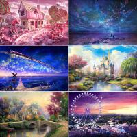 木质拼图1000片成人益智玩具礼物 星空海洋梦幻风景城堡夏至