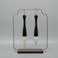 现代新中式创意毛笔软装饰品摆件样板房间书房玄关架子工艺品摆设
