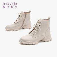莱尔斯丹19秋冬新款ins网红英伦马丁靴六孔厚底增高短靴女靴31101