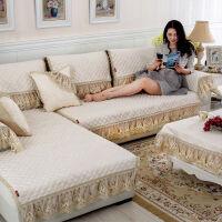 欧式雪尼尔提花四季沙发垫套装坐垫