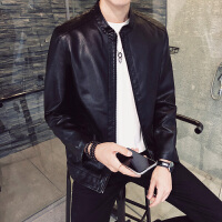 秋冬季新款韩版修身皮夹克男土个性潮流社会青年皮衣成熟男装外套DJ-1808