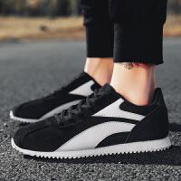 时尚跑步鞋透气韩版低帮帆布鞋男鞋韩版潮流男士休闲运动鞋