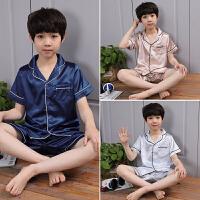 男童睡衣套装家居服中大童夏季短袖短裤薄款全棉童装睡衣